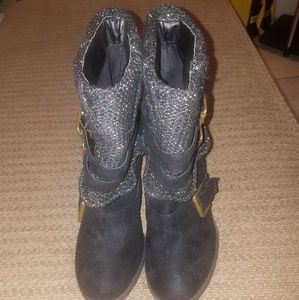 Not Rated Slip On Short Sweater Buckle Boots